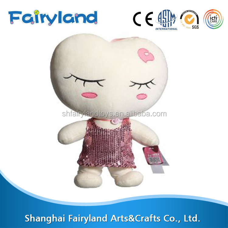 Factory price high quality soft material baby doll, plush stuffed toy for babies