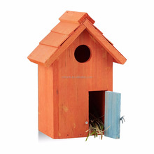 Custom Nest Box Breeding Parrot Munia Cockatiels Swallows Nest Outdoors Roof Wooden Bird House
