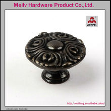 furniture hardware cabinet handle zinc alloy material antique brass knobs