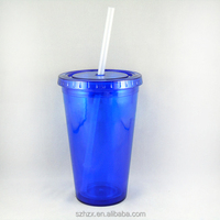 high quality 450ml/16OZ double wall cup, plastic double wall coffee cups