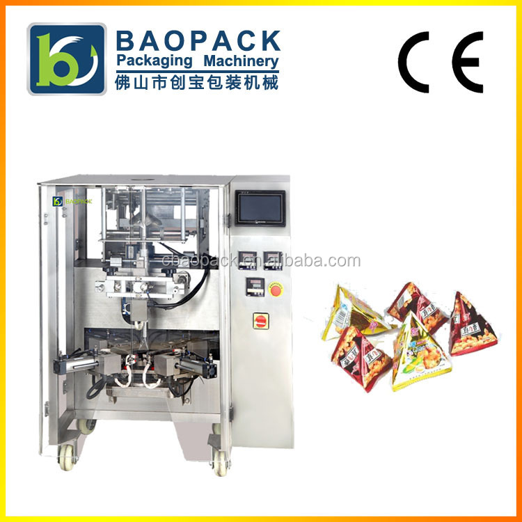 Full-automatic triangle shape bag packaging machine/filling machine/packaging