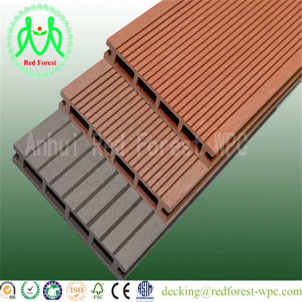 New tech wood plastic composite wpc/wpc swimming pool decking/ 2016 new design wpc decking floor