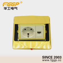 floor mounted different types of sockets with rj45 female socket or schuko plug