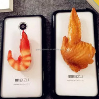 Shrimp Chicken wing accessories food keychain