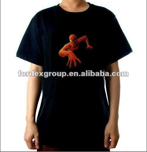 Custom designs fashion led flashing t shirt with high quality