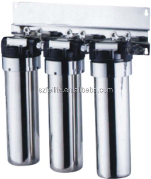 3-Stage Drinking Water Purifier <strong>PP</strong>+Active Carbon+Ceramic Filter Cartridge Stainless Steel Housing Water Purification System