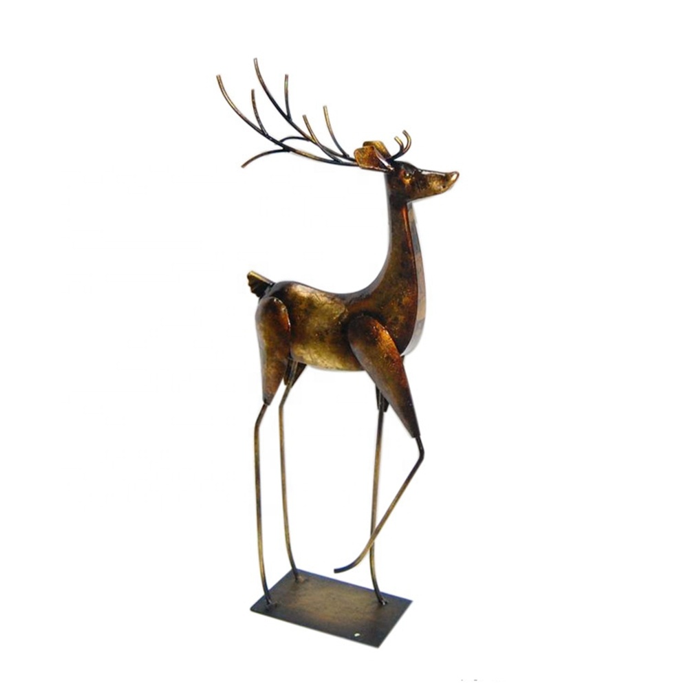 3d Metal elk christmas garden ornament <strong>decoration</strong> your house
