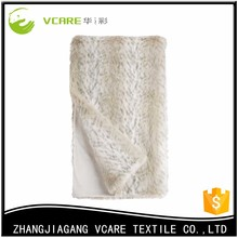 China cheap wholesale faux fur throw blanket