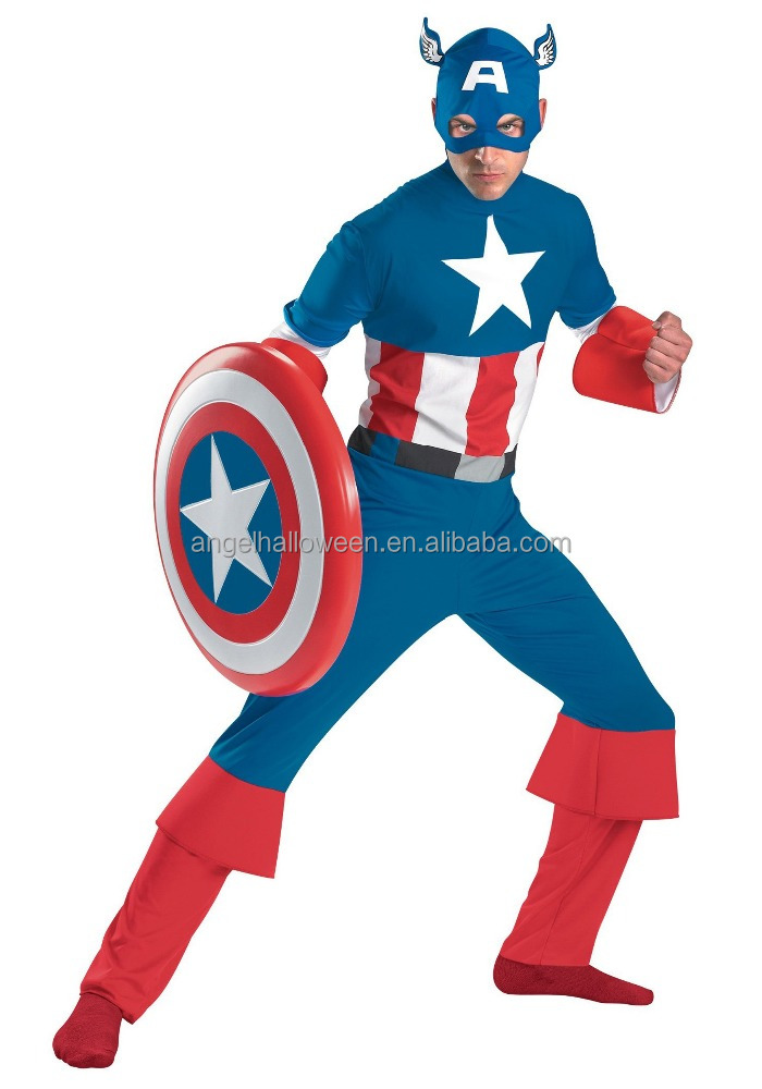 Halloween Cosplay Suit Captain America Suit Costumes Men AGM3527