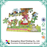 Most popular glossy lamination custom children puzzle card