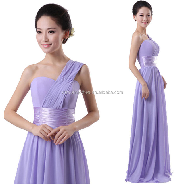 Wedding Lilac Long Chiffon Evening Ball Gown Prom Bridesmaid Dresses