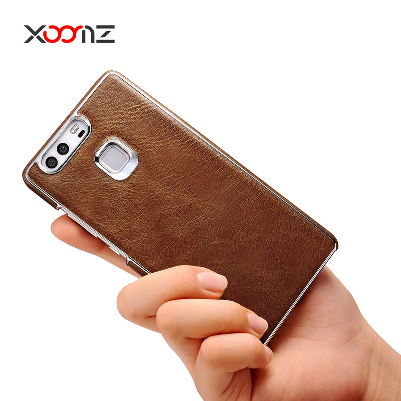 XOOMZ Back Cover and Genuine Leather Cell Phone Case for huawei p9