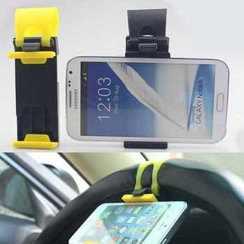 Cell Phone Holder Mount Clip Buckle Socket Hands Free on Car Steering Wheel Socket holder