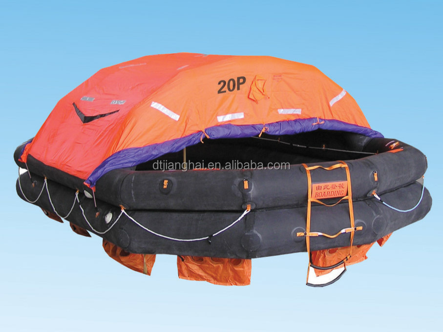2016 Hot Sale Solas Med Approved self inflating life raft