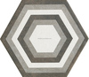 hexagon ceramic tile 115*200*230mm 3D wall papers design /hexagon tiles /floor tiles