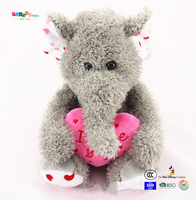 Lovely stuffed elephant animal toy CUSTOM OEM ICTI
