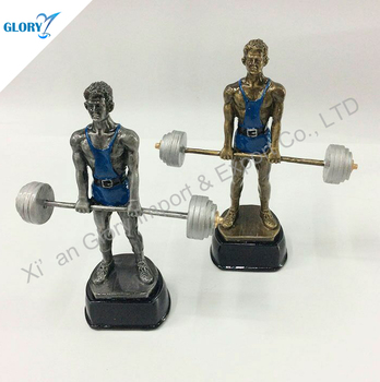 resin Weightlifting dumbbells sculpture for sport and fitness club activity