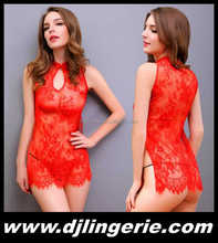 New Style 2017 Lace Valentine Red Lingerie Red Erotic Lingerie DJ3189