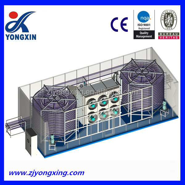 IQFmachine for vegetables and fruit freezing used spiral freezer