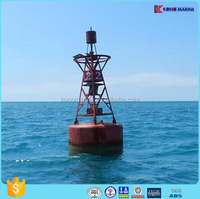 Floating marine EVA/steel Plates marker navigation buoy / buoys with solar light