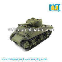 1:16 2.4Ghz RC US M4A3 Sherman Tank Toy With Smoke And Sound Function, Henglong 3898-1 RC Tank