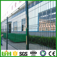 CE certificated galvanized and PVC coated Welded Wire Mesh Fence /curve fencing / 3D PVC coated welded wire mesh fence
