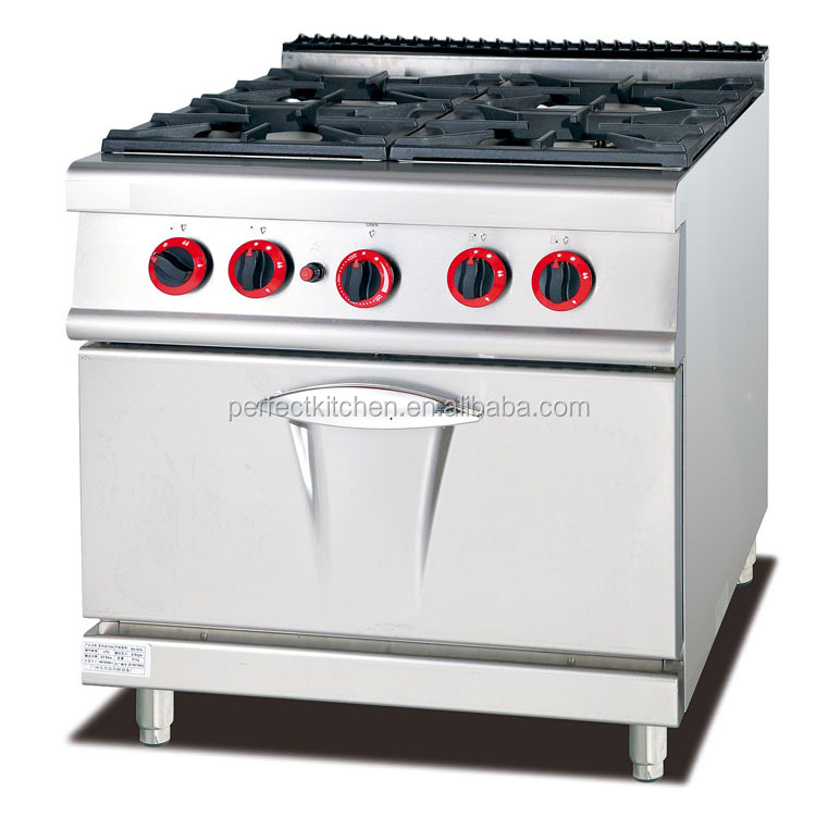 Commercial LPG Gas Cooking Range With 4-Burner & Oven/ Gas Cooking Range for sale