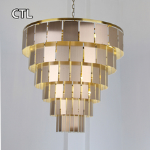 High ceiling large hanging pendant lights / modern design decorative italian chandelier