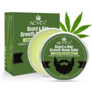 Private label 100% natural product Beard & Hair Growth Hemp Balm Softens Conditions Treats & Promotes Healty Beard growth