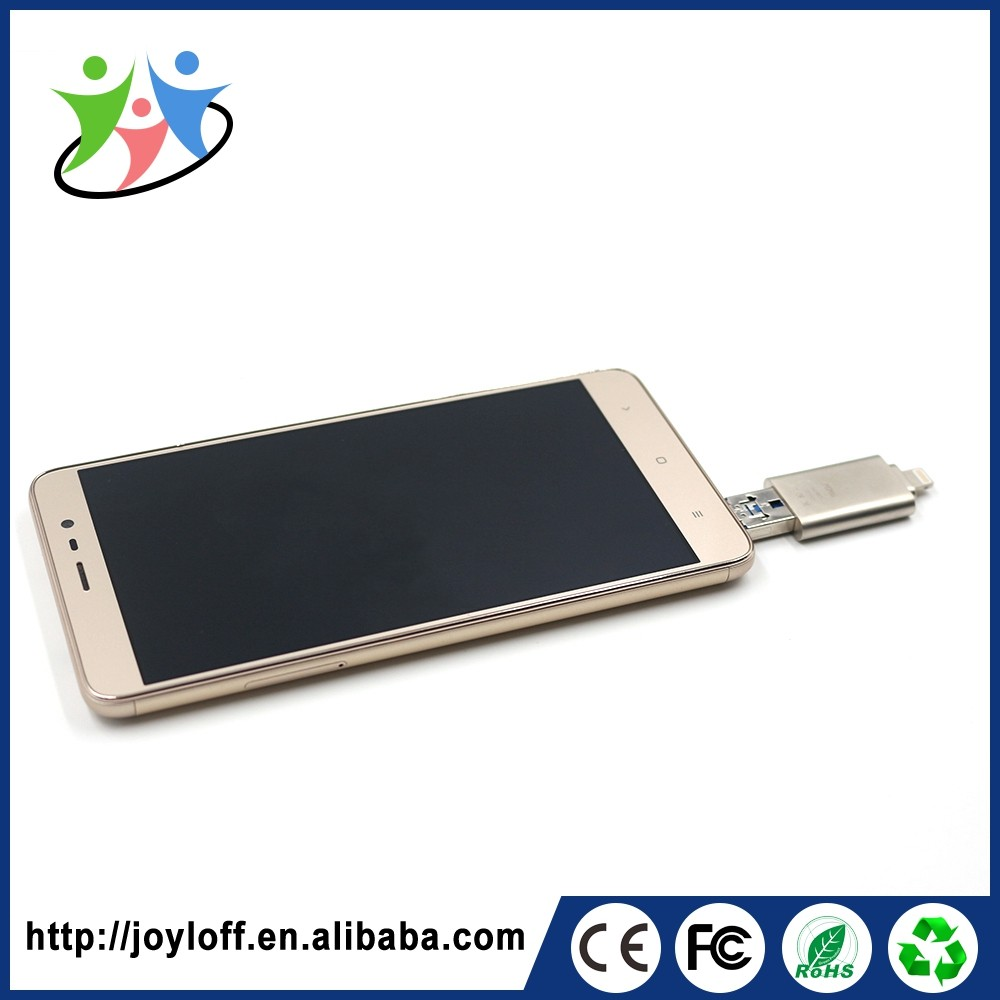 Excellent Quality Dual Double Plug Interface Otg Mobile Smart Phone Usb Dvd Drive