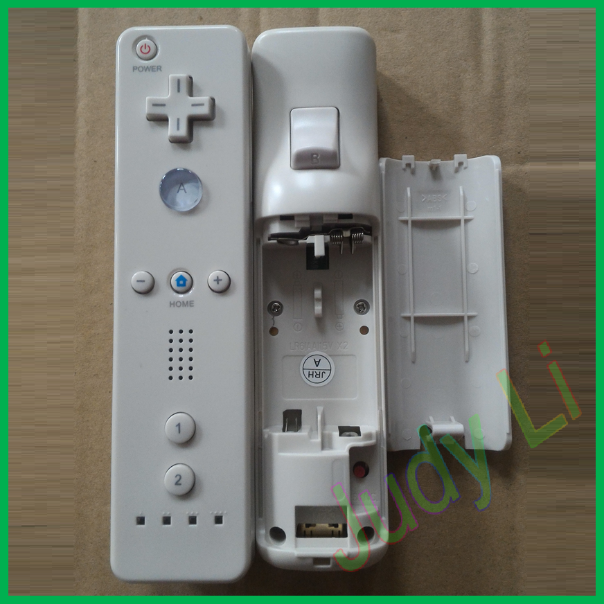 White color game controller for wii and wii U remote (plus) and nunchuck