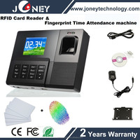 Low cost RFID Card Reader Fingerprint time attendance clock with software free