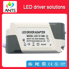Isolated constant current AC90~265V DC38~60V 12~18*1W 300mA Panel Light Led Driver