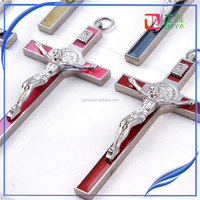 Cross Shaped Metal Christmas Gift Craft
