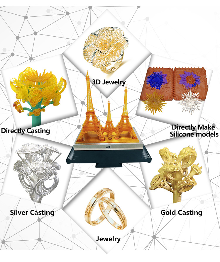 3D Plus Printer Jewelry Rapid Prototyping And Additive Manufacturing 3D Industrial Printing Machine