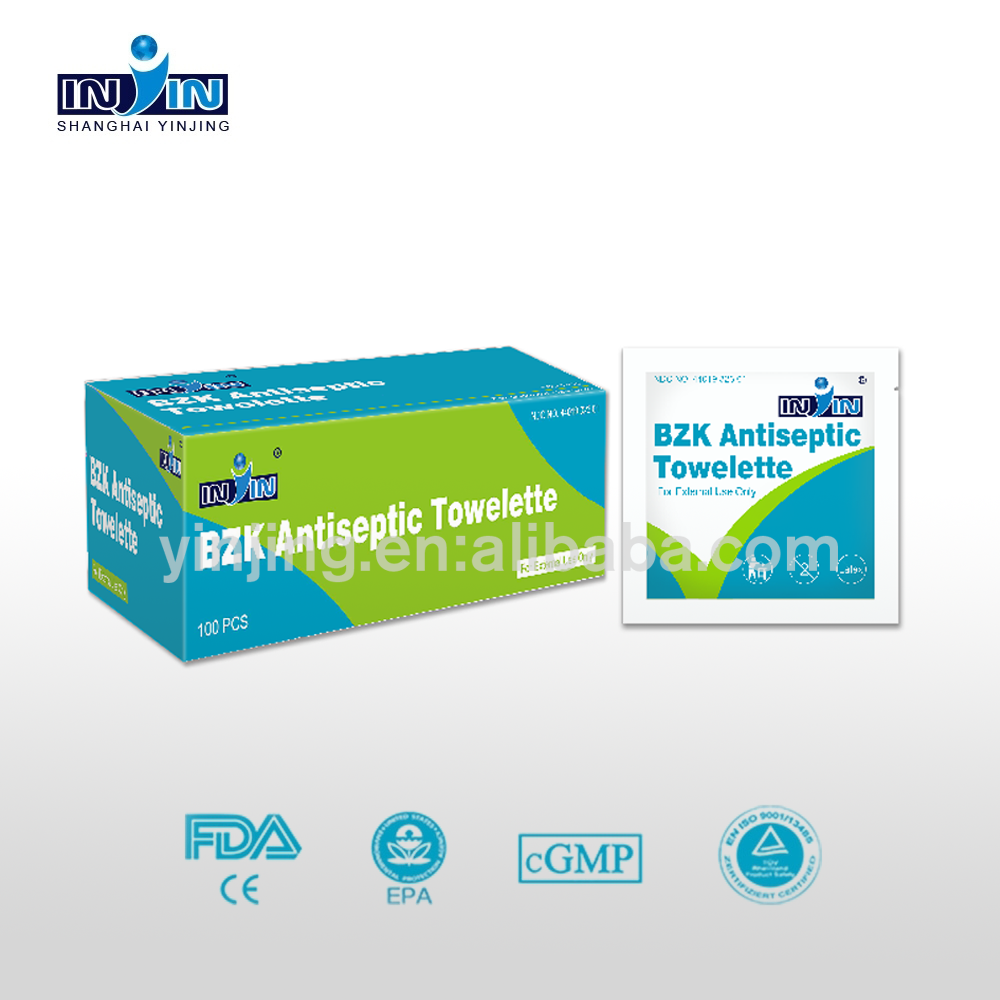 Alcohol Free Sterilizing Wipes | BZK Antiseptic Towelettes