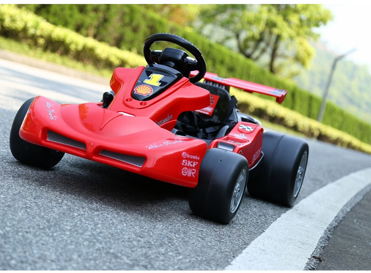 Electric Ride On Car For Kids 12V Battery Operated F1 Race Car With Remote Control