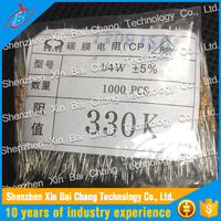 High Power 1/4W Fixed 330K OHM Carbon Film Resistor For Computer