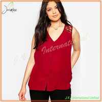 Comfortable Wholesale Sleeveless Plus Size Formal Blouses