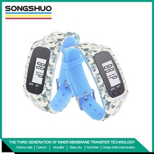 promotion silicone pedometer newest design and highest quality electronic watch