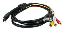 HDMI to 3 RCA + VGA Cable M/M 1.8m/6ft
