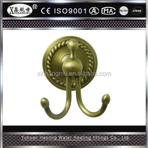Manufacturers New Pattern Antique brass towel ring double hook bathroom accessory set