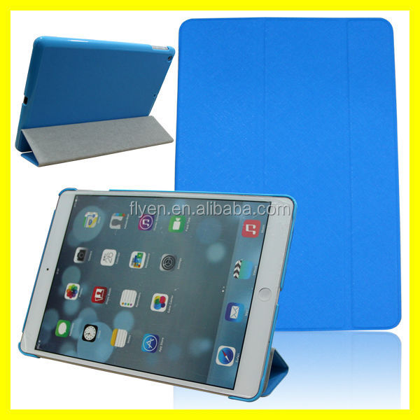 best seller! fashion design Folio Book Shell Stand trifolding case Cover for Apple ipad air