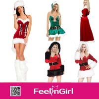 Wholesale easy unique cute sexy christmas tree costume
