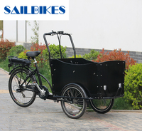 3 wheel electric cargo bike for carrying kids and pets