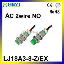 M18 Two Wire DC NO 8mm distance measuring Inductive proximity switch sensor -LJ18A3-8-Z/EX
