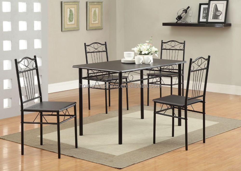metal dining room furniture table and chair set buy metal and slate