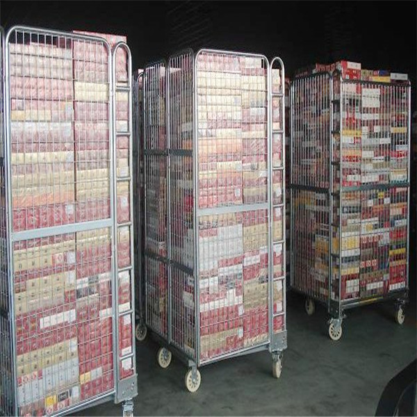 roll trolley wide range of applications/logistic cart /folding roll container for various industry