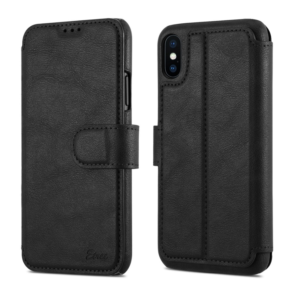 Luxury Flip Cover Leather Wallet Phone Case For <strong>iPhone</strong> X