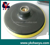 polishing backer pad use with sandpaper